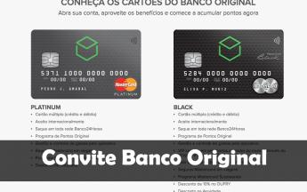 Convite Banco Original como funciona